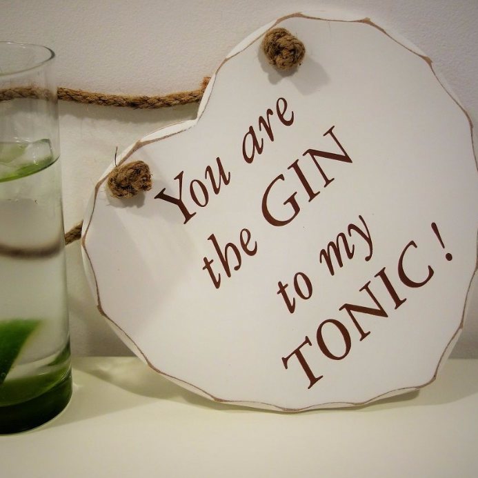 50% OFF You are the Gin..to my tonic Hanging heart